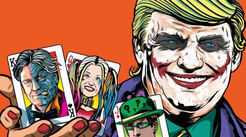 """A propósito de los 100 días de Gobierno del presidente de Estados Unidos, Donald Trump, la Society for News Design (SND) y el diario danés """"Politiken"""" recopilaron el trabajo de 71 diseñadores en todo el mundo y lo plasmaron en un libro electrónico. En la imagen, el trabajo de un medio de Portugal. (Foto: Expresso - Pinto)"""
