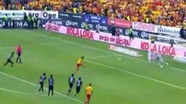 Raúl Ruidíaz marcó el primer gol para el Moralia desde los doce pasos antes Pumas por la fecha 16 de la Liga MX. (Video: YouTube/ Foto: Captura)