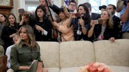 Una Casa Blanca sin primera dama en los 100 días de Trump