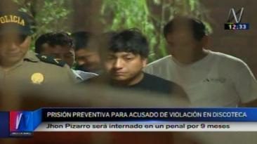 Violación en discoteca: detenido seguirá el proceso en prisión