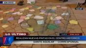 Cusco: detienen a turista por pintar calle de centro histórico