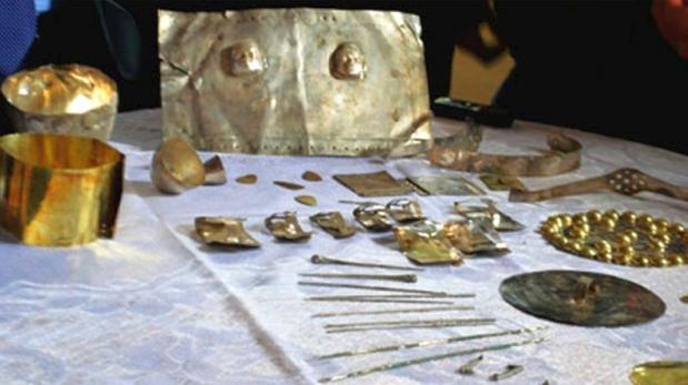 Perú: hallan cien piezas preincaicas de oro y plata en Cajamarca