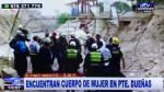 Hallan cadáver de mujer en Río Rímac, el segundo caso en un día - Noticias de puente duenas