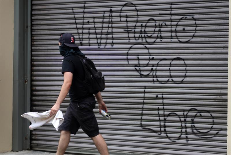 Así se desarrolló la marcha en Puerto Rico. (Foto: Agencia EFE)