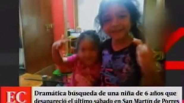 SMP: niña de 6 años desapareció en extrañas circunstancias