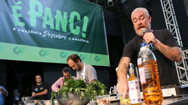 El chef peruano Pedro Miguel Schiaffino participó de un encuentro organizado por Instituto Atá en Belém. Las plantas amazónicas no convencionales fueron el insumo estrellas.