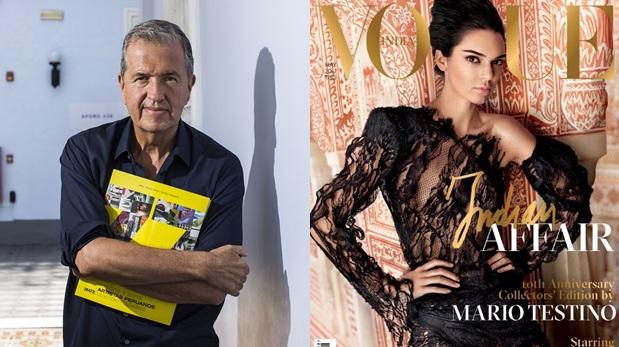 Mario Testino fotografía a Kendall Jenner para Vogue India