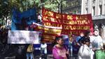 Movadef también marchó en Argentina con carteles sobre Guzmán - Noticias de alfredo guzman