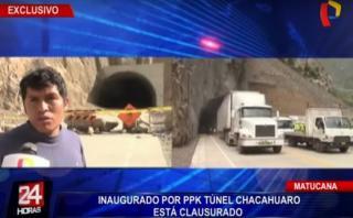 Matucana: túnel inaugurado por PPK fue cerrado a los 3 días
