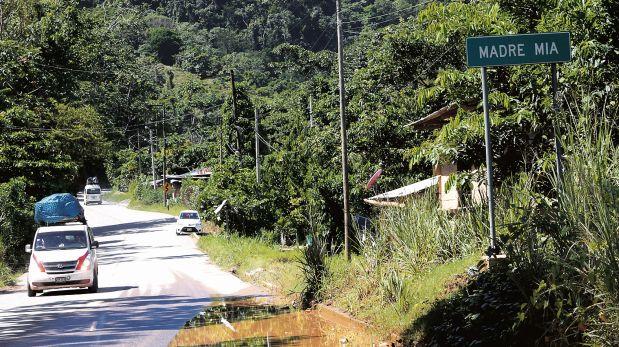 Madre Mía se ubica en San Martín, cerca del límite con Huánuco. Fue uno de los escenarios más violentos en los años 90. (Foto: Dante Piaggio/El Comercio)