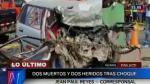 Huaral: tres personas mueren en choque frontal de automóviles - Noticias de andrea martinez