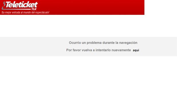 Mensajes que aparecía en la web de Teleticket para la compra de entradas para el show de Bruno Mars en Lima. (Fotos: Captura de pantalla)