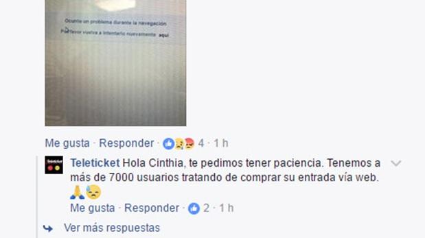 Respuesta de Teleticket por problemas en la venta de entradas para Bruno Mars en Lima. (Fotos: Captura de pantalla)
