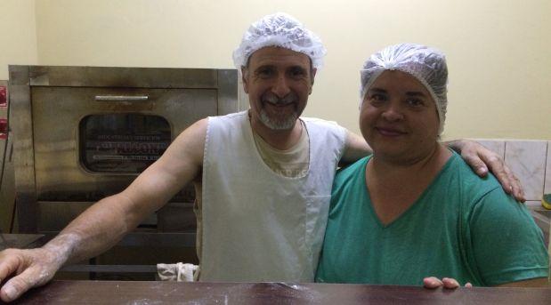 Francesco Petullá y Paola Pozo, dueños de Italian Food en Surquillo. (Foto: Alicia Rojas/El Comercio)