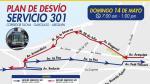 Corredor Azul: buses desvían recorrido por evento en Miraflores - Noticias de avenida ricardo palma