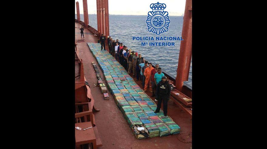 [Foto] España: Barco venezolano es detenido con 2 toneladas de cocaína