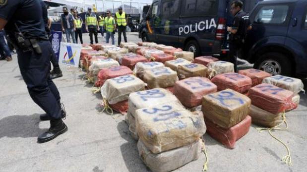 Interceptan barco rumbo a España con 5.5 toneladas de cocaína