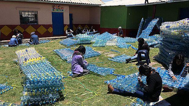 [Foto] Peruanos crean 'casas abrigadas' para combatir las heladas