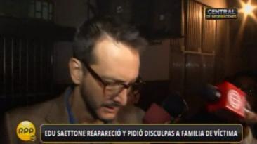 Edu Saettone dice estar tranquilo con su conciencia