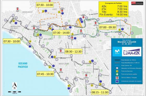 Maratón Movistar Lima42k: Conoce aquí los detalles