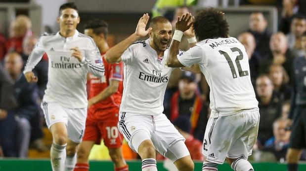 Real Madrid goleó 3-0 a Liverpool