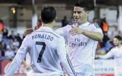Real Madrid goleó 4-0 con goles de James, Ronaldo (2) y Benzema