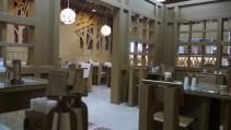 Un restaurante hecho de cartón