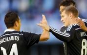 Real Madrid ganó de visita con doblete de Chicharito Hernández