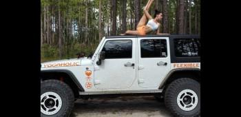La fanática del yoga y los Jeep