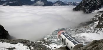 Un refugio en los Alpes