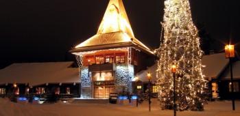 Una mágica visita a papa Noel