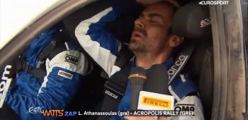 Piloto de rally se pone a llorar