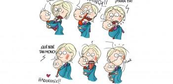 Ser madre en divertidos dibujos