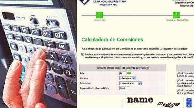 Compara qué comisión te conviene pagar a tu AFP con calculadora virtual