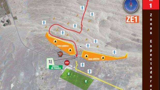 Dakar 2013: esta es la zona de espectadores para la segunda etapa