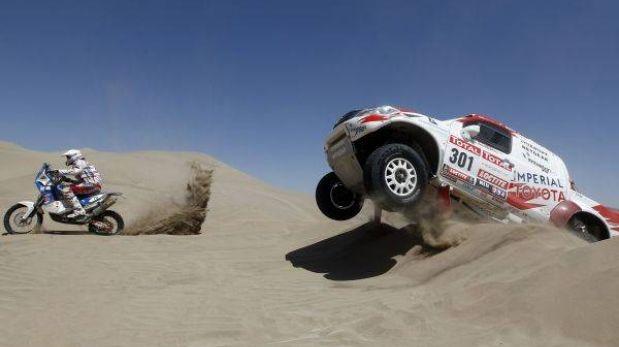 Las dunas de Nasca reciben al Dakar en la tercera etapa de hoy