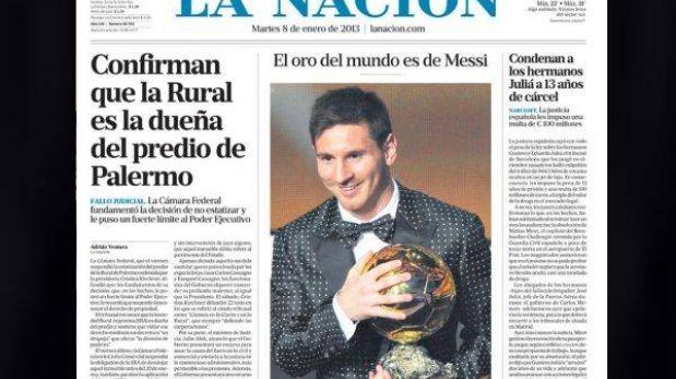 """Messi y su cuarto Balón de Oro: prensa mundial se rinde ante """"el más grande"""""""