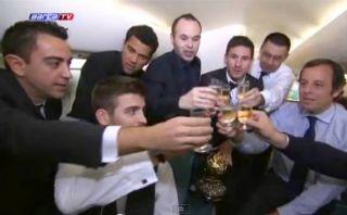 VIDEO: el festejo íntimo de Lionel Messi con compañeros de Barcelona
