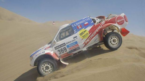 Ferreyros lidera delegación peruana en autos al final de quinta etapa