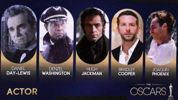 Premios Óscar 2013: estos son los actores que compiten por una estatuilla