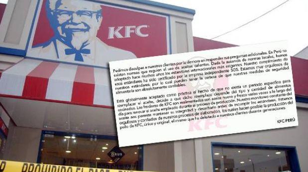 """KFC, a 15 días del escándalo: """"Perú no regula el uso de aceites calientes"""""""