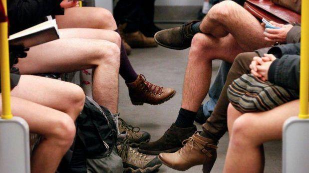 """FOTOS: El día del """"Viaje en metro sin pantalones"""" se celebró en varias ciudades"""