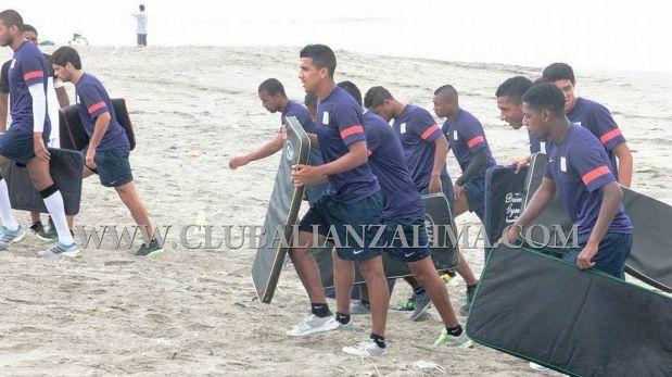 FOTOS: la divertida y exigente pretemporada que realiza Alianza Lima en la playa