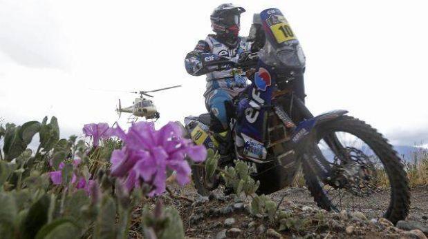 Una vaca hizo perder el liderato de motos a Casteu en el Dakar