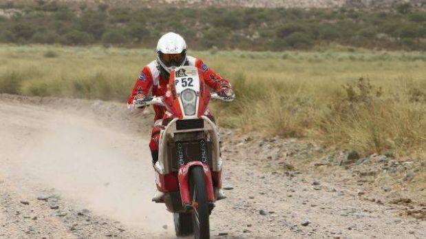 Felipe Ríos sigue su marcha en el Dakar, aunque perdió posiciones