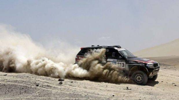 Orlando Terranova, el primer argentino en ganar una etapa de coches del Dakar