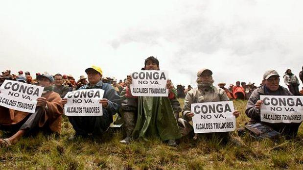 Antimineros de Conga protestan ahora contra proyecto en Lambayeque