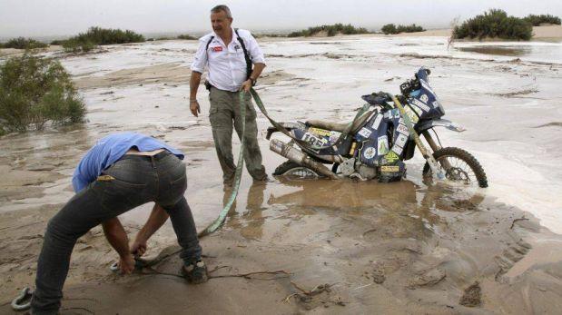 FOTOS: la undécima etapa del Dakar estuvo marcada por los desbordes de varios ríos