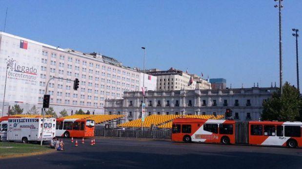 FOTOS: el Palacio de la Moneda se alista para la ceremonia final del Dakar