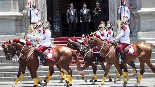 FOTOS: presidente Humala estuvo en el primer Cambio de Guardia del 2013
